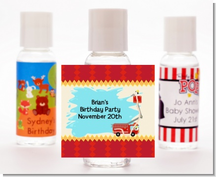 Fire Truck - Personalized Baby Shower Hand Sanitizers Favors