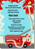 Fire Truck - Baby Shower Invitations