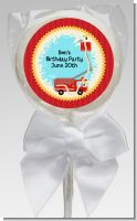 Fire Truck - Personalized Baby Shower Lollipop Favors