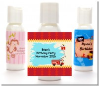 Fire Truck - Personalized Baby Shower Lotion Favors
