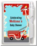 Fire Truck - Baby Shower Personalized Notebook Favor