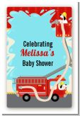 Fire Truck - Custom Large Rectangle Baby Shower Sticker/Labels