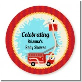 Fire Truck - Personalized Baby Shower Table Confetti