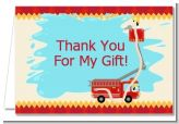 Fire Truck - Baby Shower Thank You Cards