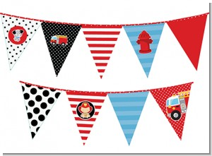 Future Firefighter - Baby Shower Themed Pennant Set