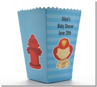 Future Firefighter - Personalized Baby Shower Popcorn Boxes