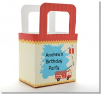 Fire Truck - Personalized Birthday Party Favor Boxes