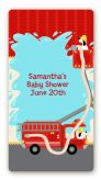 Fire Truck - Custom Rectangle Baby Shower Sticker/Labels