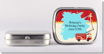 Fire Truck - Personalized Birthday Party Mint Tins