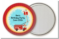 Fire Truck - Personalized Birthday Party Pocket Mirror Favors