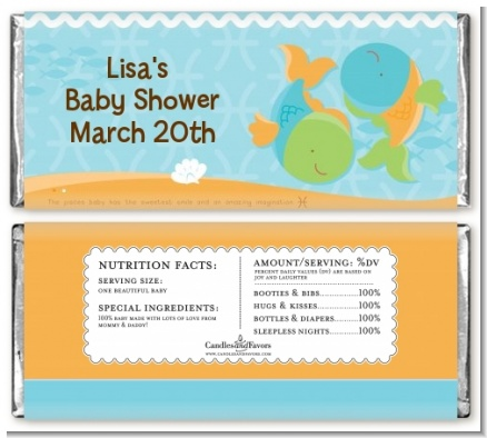 Fish | Pisces Horoscope - Personalized Baby Shower Candy Bar Wrappers
