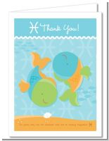 Fish | Pisces Horoscope - Baby Shower Thank You Cards