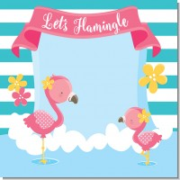 flamingo baby shower theme
