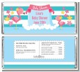 Flamingo - Personalized Baby Shower Candy Bar Wrappers thumbnail