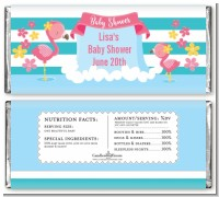 Flamingo - Personalized Baby Shower Candy Bar Wrappers