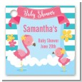 Flamingo - Personalized Baby Shower Card Stock Favor Tags thumbnail