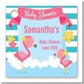 Flamingo - Personalized Baby Shower Card Stock Favor Tags