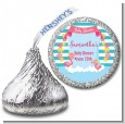 Flamingo - Hershey Kiss Baby Shower Sticker Labels thumbnail