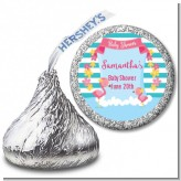 Flamingo - Hershey Kiss Baby Shower Sticker Labels