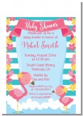 Flamingo - Baby Shower Petite Invitations