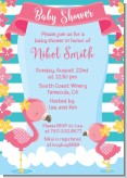 Flamingo - Baby Shower Invitations