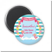 Flamingo - Personalized Baby Shower Magnet Favors