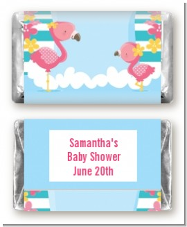 Flamingo - Personalized Baby Shower Mini Candy Bar Wrappers