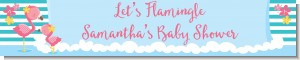 Flamingo - Personalized Baby Shower Banners