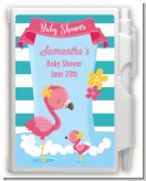 Flamingo - Baby Shower Personalized Notebook Favor