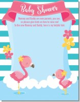 Flamingo - Baby Shower Notes of Advice