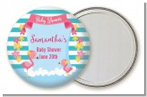 Flamingo - Personalized Baby Shower Pocket Mirror Favors