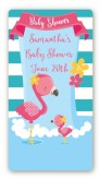 Flamingo - Custom Rectangle Baby Shower Sticker/Labels