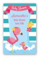 Flamingo - Custom Large Rectangle Baby Shower Sticker/Labels thumbnail