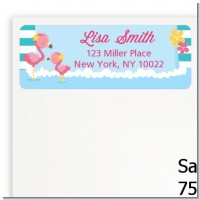 Flamingo - Baby Shower Return Address Labels