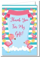 Flamingo - Baby Shower Thank You Cards