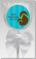 Flip Flops Boy Pool Party - Personalized Birthday Party Lollipop Favors
