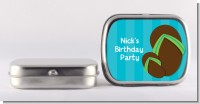 Flip Flops Boy Pool Party - Personalized Birthday Party Mint Tins