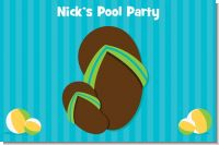 Flip Flops Boy Pool Party - Personalized Birthday Party Placemats
