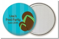 Flip Flops Boy Pool Party - Personalized Birthday Party Pocket Mirror Favors