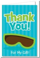 Flip Flops Boy Pool Party - Birthday Party Thank You Cards