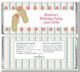 Flip Flops - Personalized Birthday Party Candy Bar Wrappers