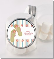 Flip Flops - Personalized Birthday Party Candy Jar