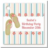 Flip Flops - Personalized Birthday Party Card Stock Favor Tags