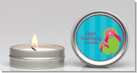 Flip Flops Girl Pool Party - Birthday Party Candle Favors