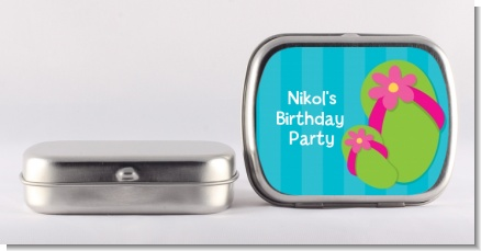Flip Flops Girl Pool Party - Personalized Birthday Party Mint Tins