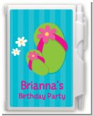 Flip Flops Girl Pool Party - Birthday Party Personalized Notebook Favor