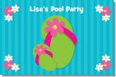 Flip Flops Girl Pool Party - Personalized Birthday Party Placemats