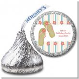 Flip Flops - Hershey Kiss Birthday Party Sticker Labels