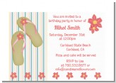 Flip Flops - Birthday Party Petite Invitations