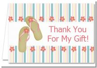 Flip Flops - Birthday Party Thank You Cards